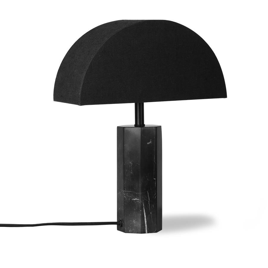 HK Living :: Basis for the table lamp Hexagon black marble