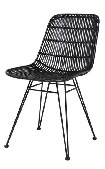 HK Living :: Black rotang chair