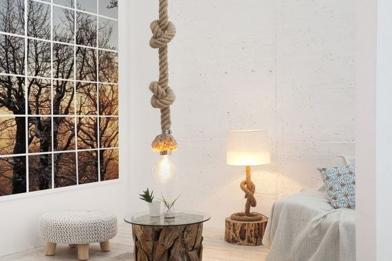 INTERIOR SPACE :: Hanging Lamp Ropes