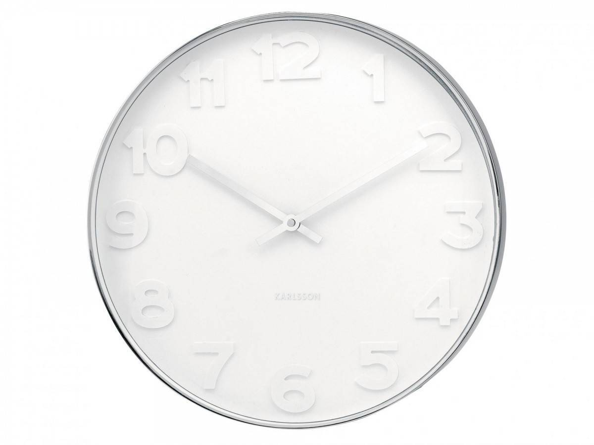 Karlsson :: Wall Clock Mr. white Numbers DIA 37,5cm