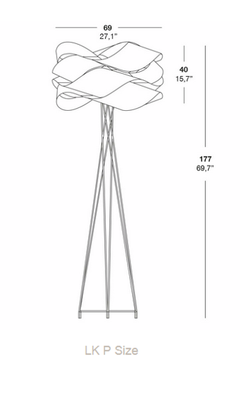 LZF :: Floor Lamp Link wys.177cm (color of your choice)