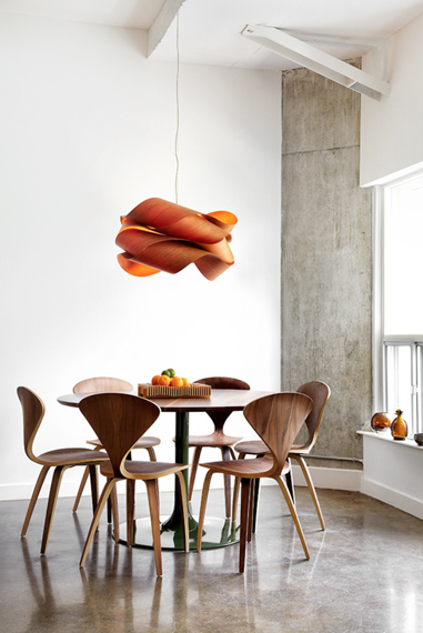 LZF :: Pendant Lamp Link small orange 42x24