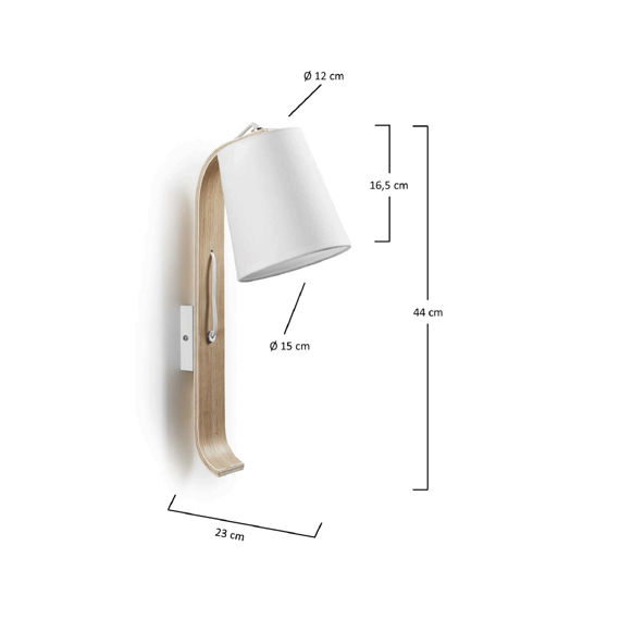 LaForma :: PERCY Wall lamp shade white