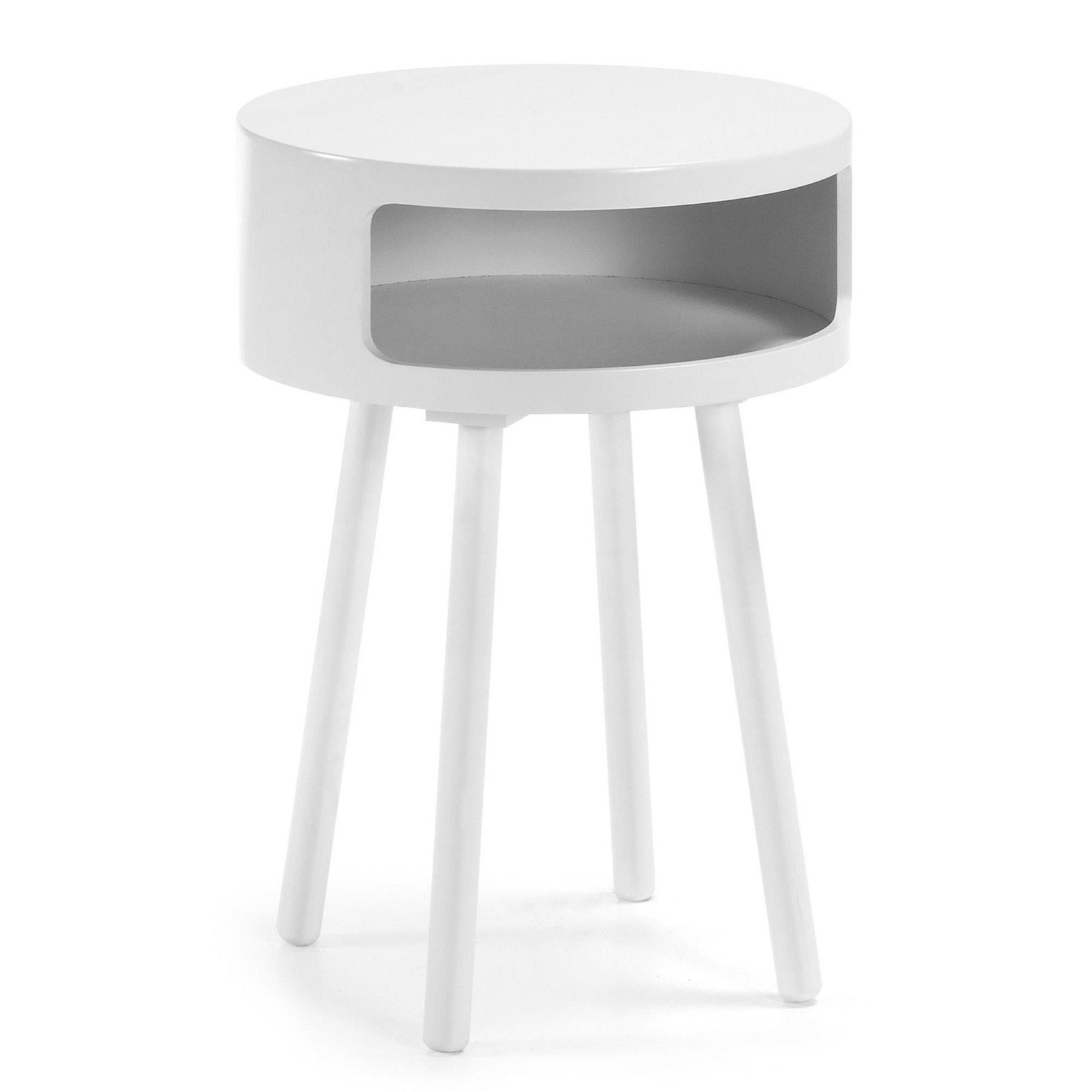 LaForma :: BRUK Side table wood white