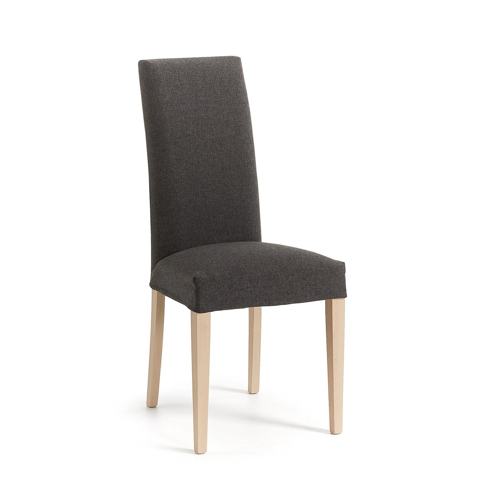 LaForma :: FREIA Chair removable natural wood fabric graphite