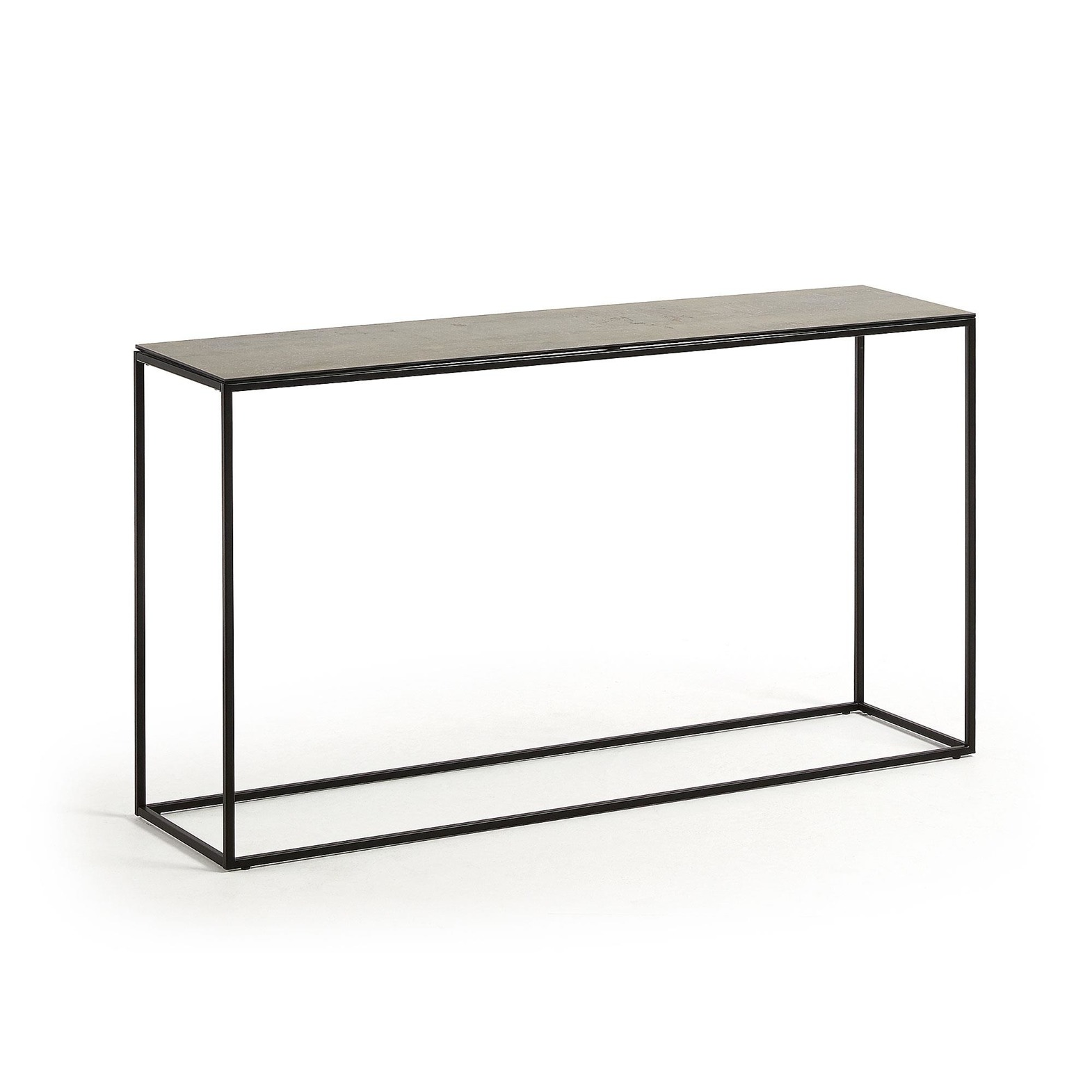 RAWENNA Console table 110x74 black porcelain Iron Moss