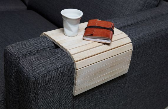 Woood :: Oak Flexible stand on the sofa armrest - bleached