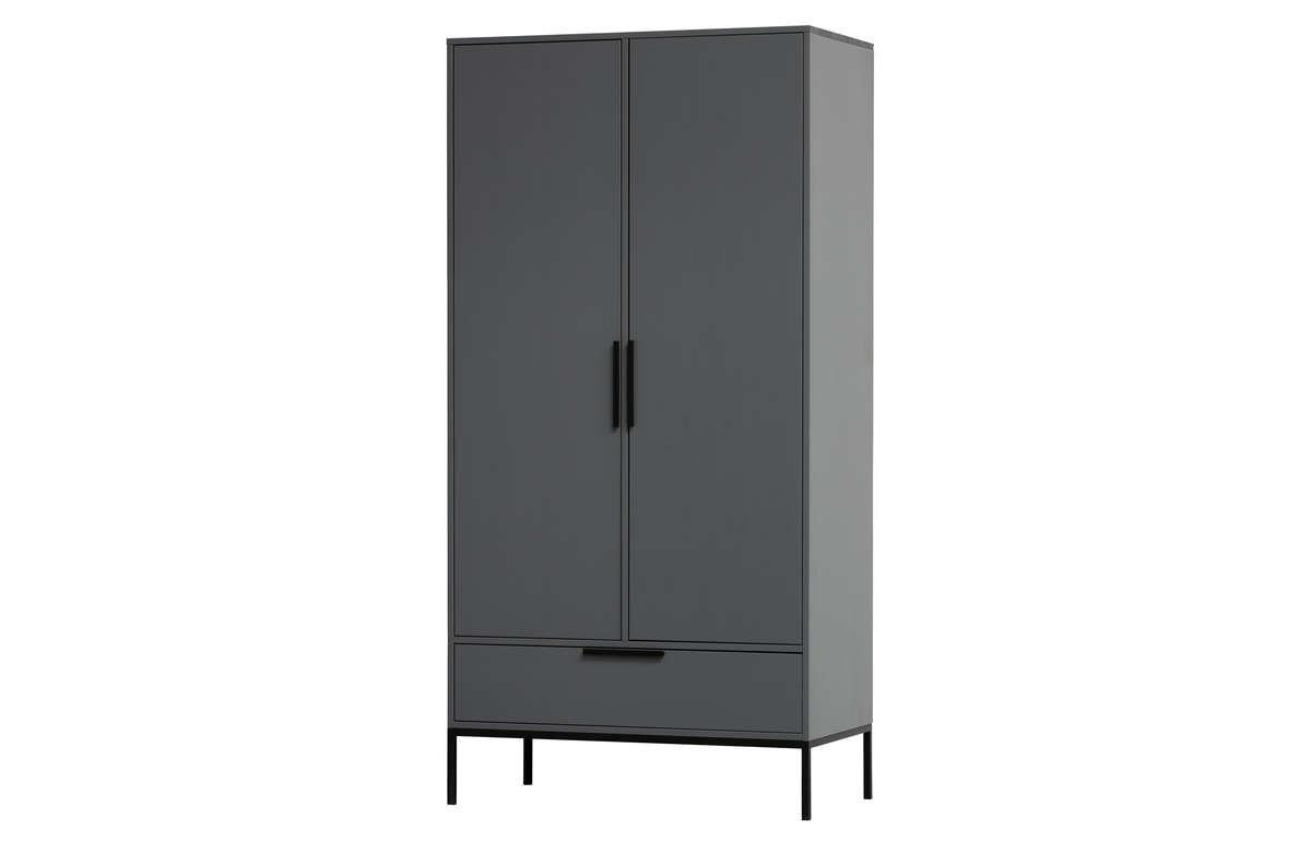 Woood :: Adam wardrobe steel gray [FSC]