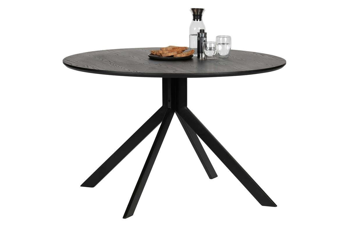 Woood :: Bruno black table ø120 cm