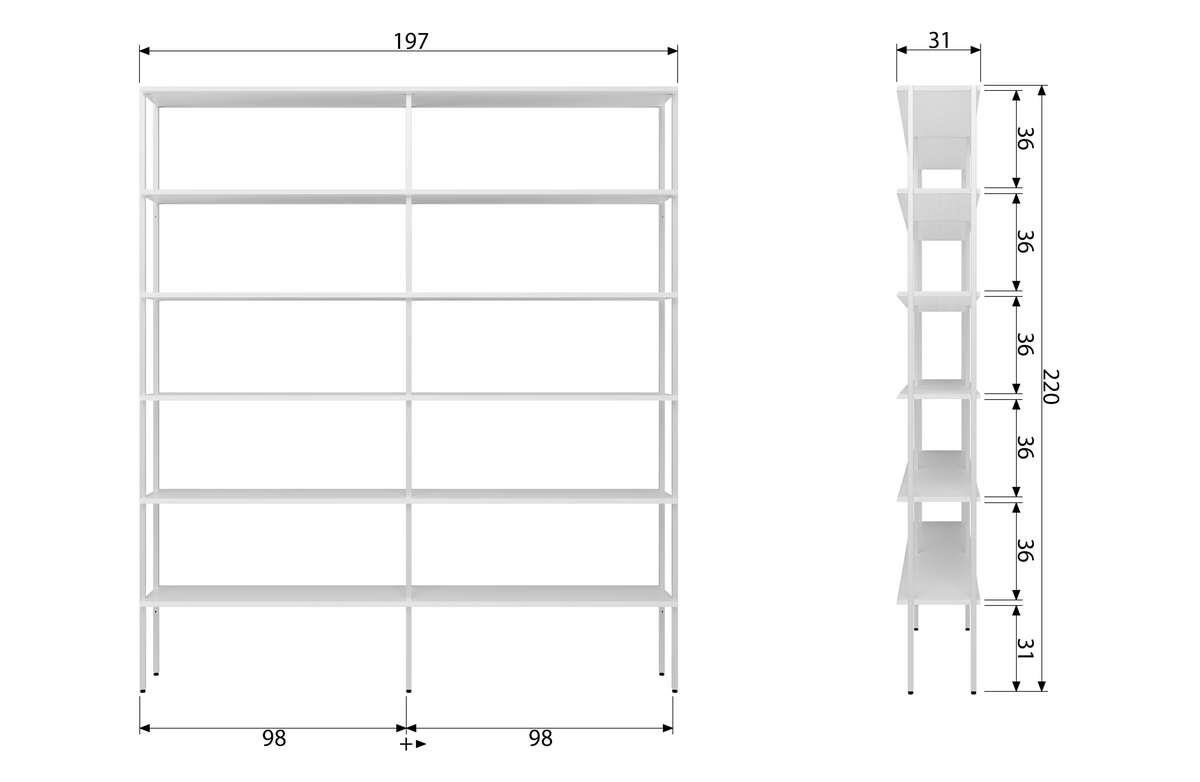 Woood :: Shelving Rack 3 white edition