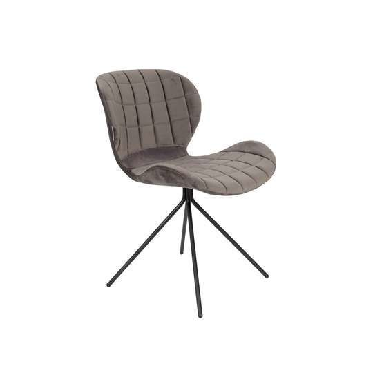 Zuiver :: OMG chair VELVET gray