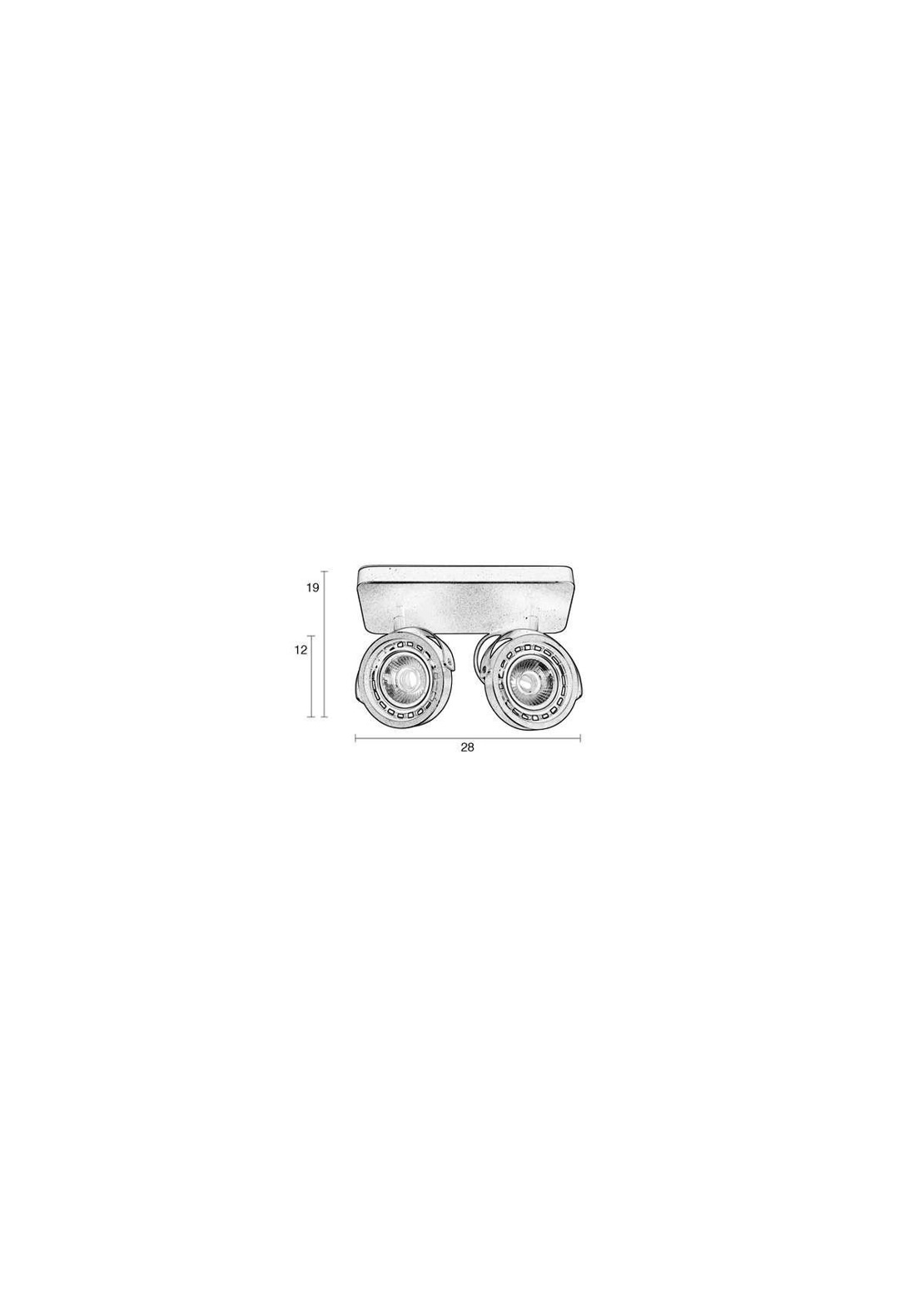 Zuiver :: Spot Light DICE 2-white DTW