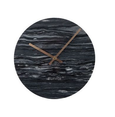 Zuiver :: Clock marble TIME dark gray DIA 25cm