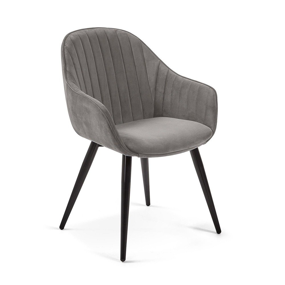 Chair HETMAN grey velvet