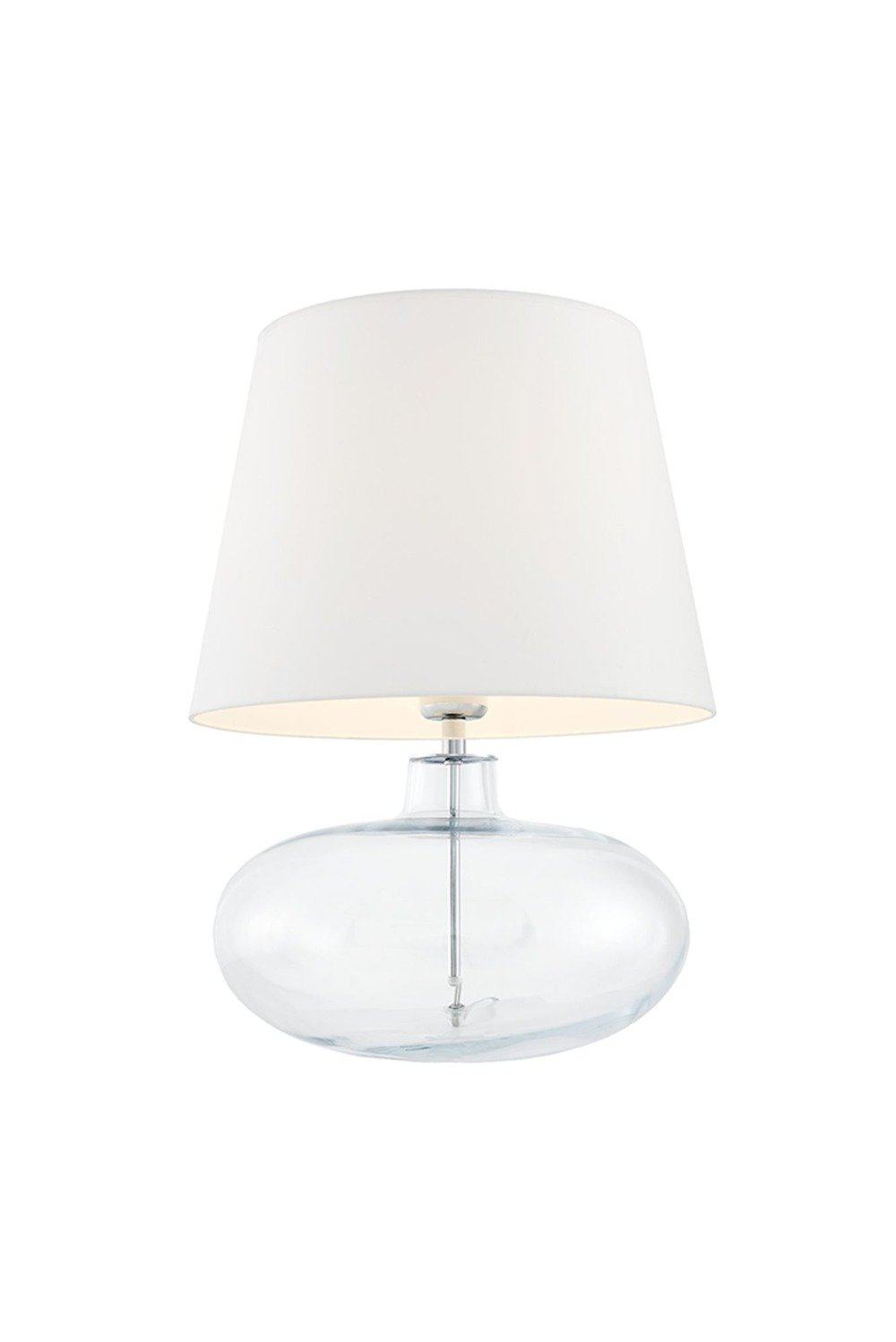 KASPA :: Table Lamp Sawa - white Shade base transparent