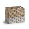 LaForma :: WOODY Drawer/container wicker white and natural