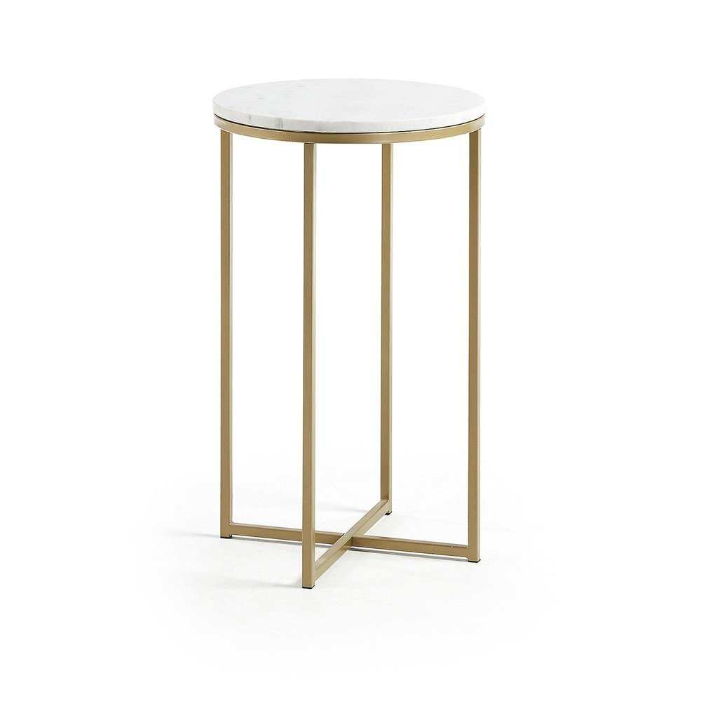 SETIF Side table Sheffield 43 cm with marble top and g