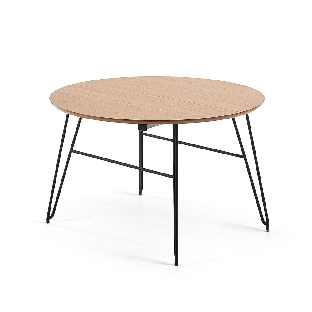 VAS Table 120(200)x120 black, natural wood veneer