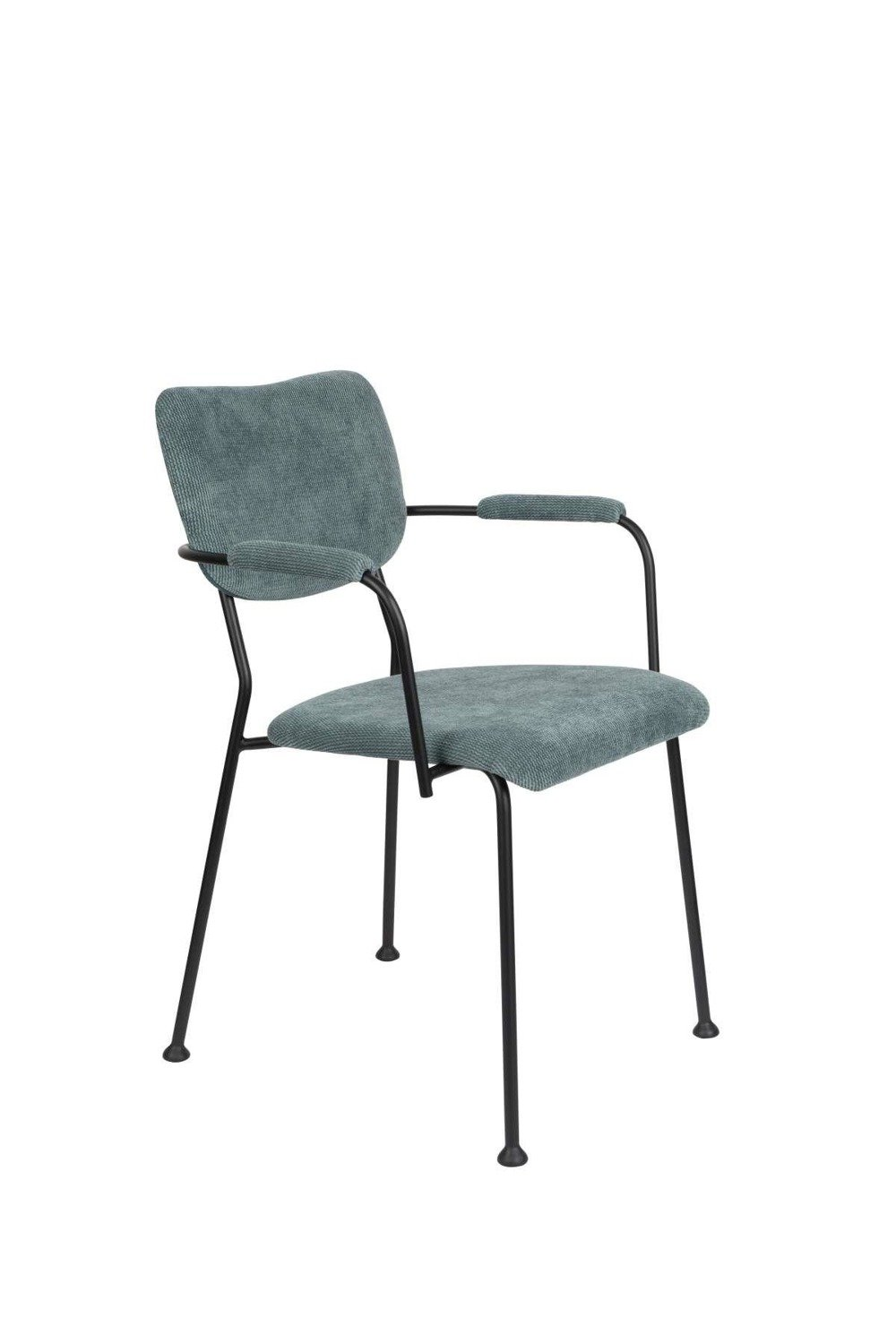 Zuiver :: Chair with armrests gray-blue BENSON