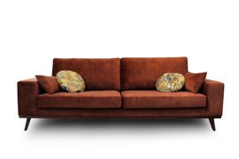 9design Collection :: Sofa tapicerowana Modena 3-osobowa ceglana