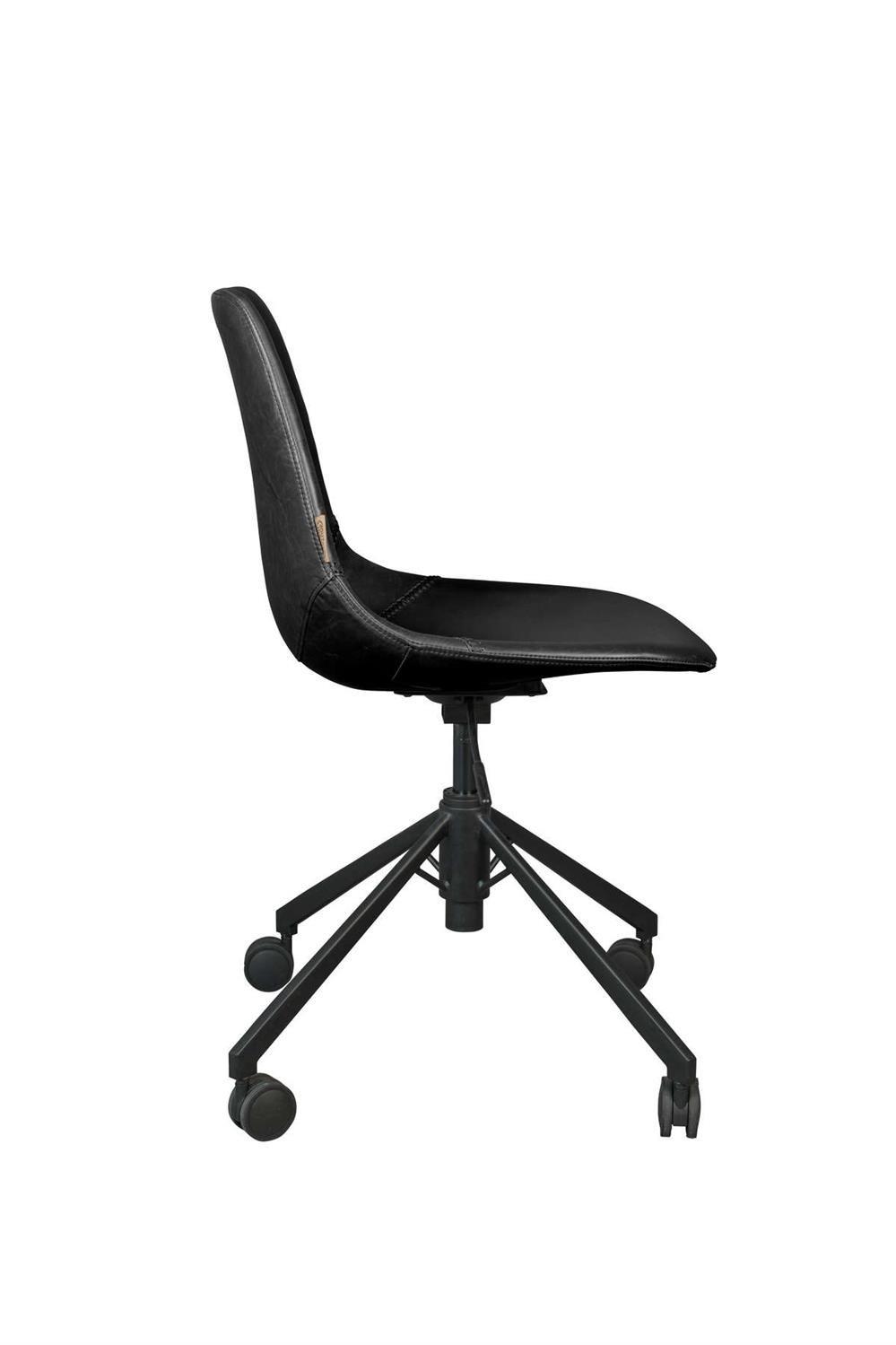 Plakat czarny krzesło biurowe na białym tle na wymiar