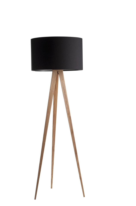 zuiver lampa tripod wood black czarny drewniany 5000805 salon meblowy warszawa 9design. Black Bedroom Furniture Sets. Home Design Ideas