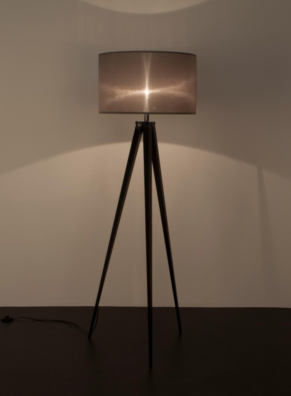 zuiver lampa tripod szaro czarna szary klosz czarna podstawa szaro czarna 5000800 salon. Black Bedroom Furniture Sets. Home Design Ideas
