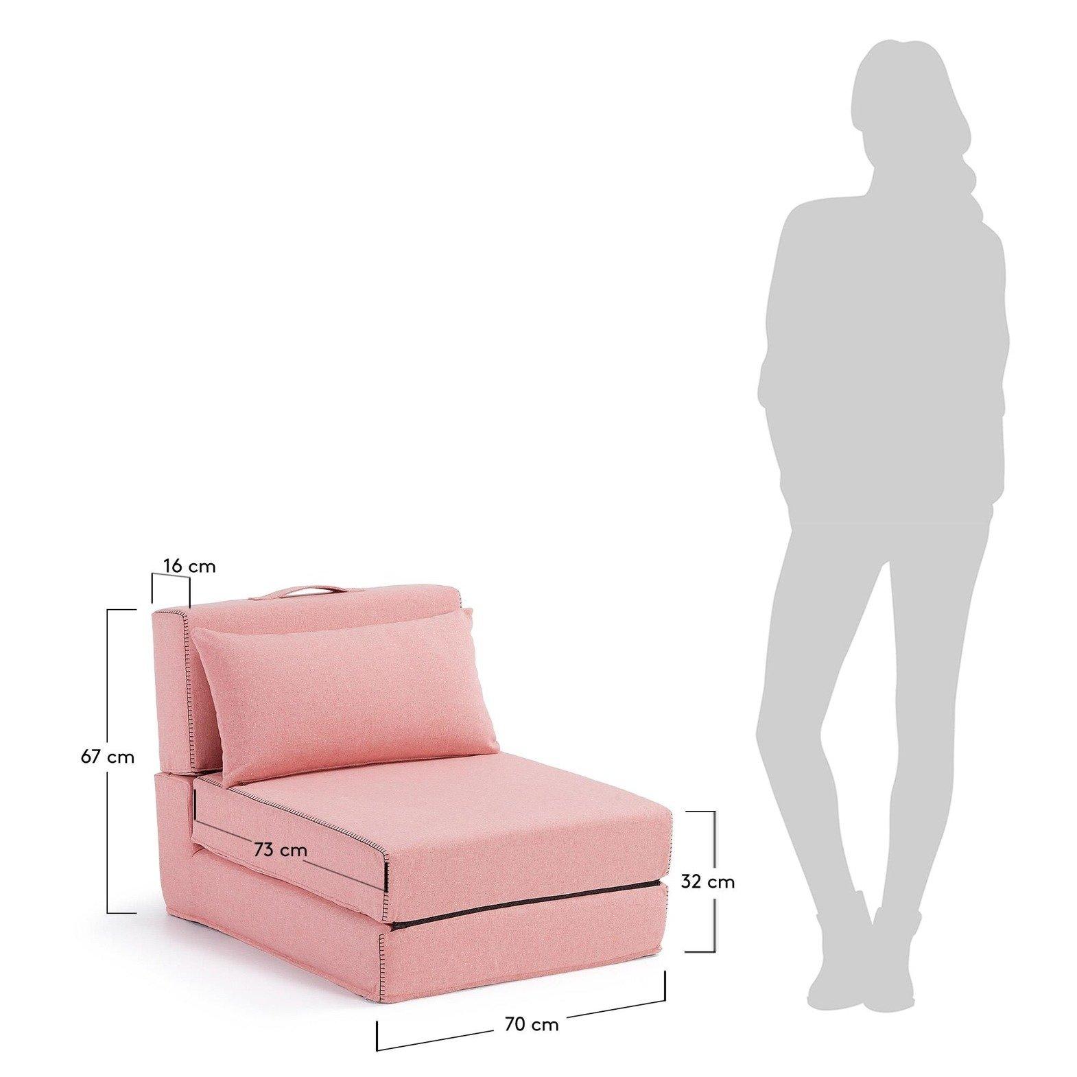 Fotel Rozkładany Keid Różowy