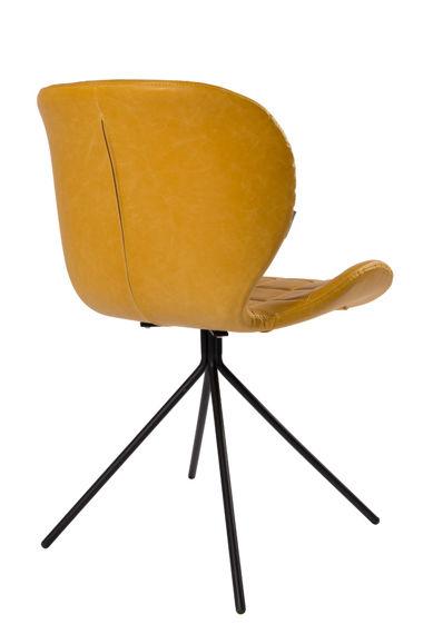 Krzesło OMG LL skórzane żółte Zuiver